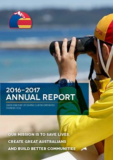 Annual Report Cover Dixon Park SLSC